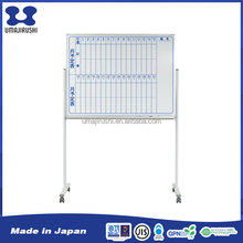 Flexibility installation durable one side print whiteboard with roller