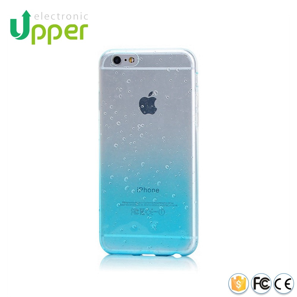 4.7 inch Mobile Phone Accessory Ultra Thin Clear Crystal 3d Water Rain Drop Soft TPU Case back Cover For iPhone 5 6 6s