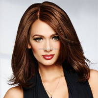 Sale Hairstyle Synthetic Wigs Short Brown Straight BOB Wigs for Halloween Women
