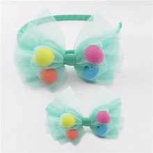 shiny seamless baby elastic hairband for pictures for children gown