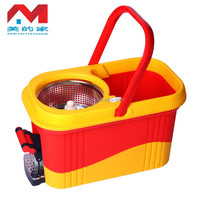 Hand Press Spin Mop with Plastic Basket Bucket with Pedal easy life 360 rotating spin magic mop rotating magic mop with bucket