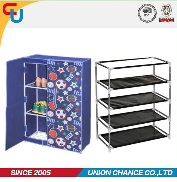 portable Nonwoven iron shoe rack metal for closets