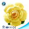 Fashion new valentine gift plush yellow rose pillow cushion cute stuffed soft plush flower shaped pillow