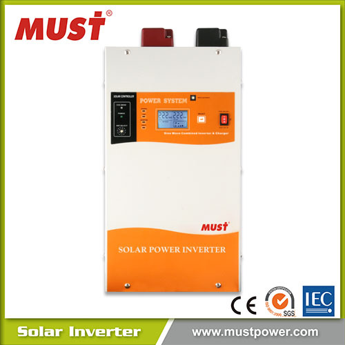 12v 24v 1000w for Dubai popular Pure Sine Wave Solar Inverter with A/C MPPT charger for solar panels and home appliance