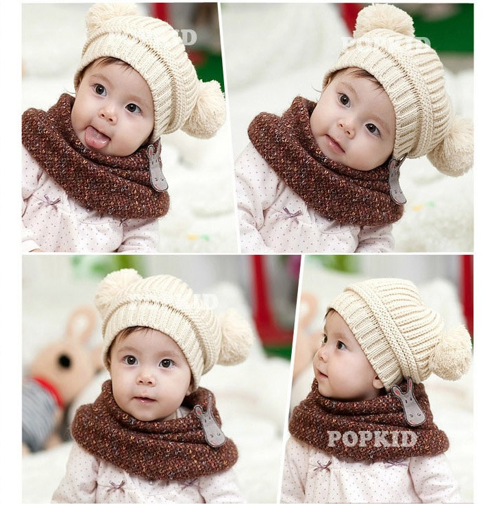 Baby Kids Winter Woolen Cap Toddler Knitted Crochet Beanie <strong>Hat</strong>