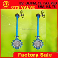 worm gear cast iron long stem valve from manufacturing with electric actuated or water tank float valve