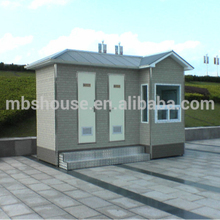 Eco-friendly Prefab Portable toilet in park/ portable toilet price in prefab home supplier/ luxury public toilet on the beach