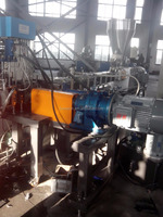 HONE SHJ65B Co-rotating Twin Screw Extruder Plastic Compounding Pelletizing Machine