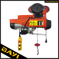 PA 125kg 220v mini electric wire hoist with trolley