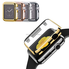 Ultra slim hard pc plated case for apple watch, for apple watch case electroplating cases