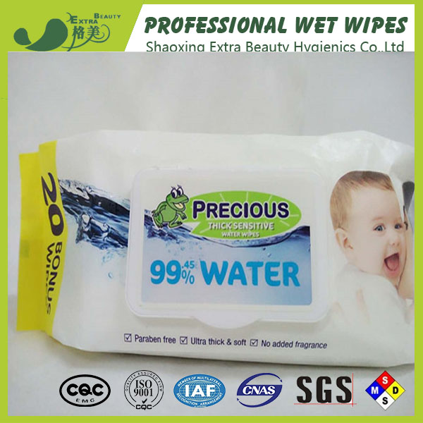 soft cleansing baby wet wipes 80pcs with plastic lid