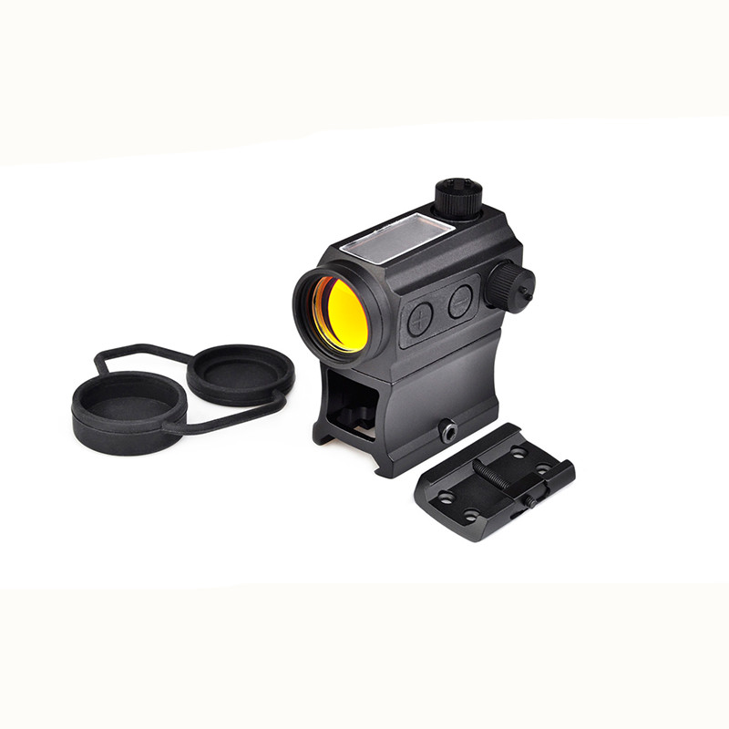 Aim-O Solar Power Red Dot With Riser Mount & Low Mount airsoft hunting scope dot sight scope