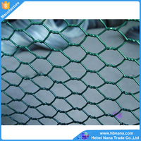 Hexagonal Wire Netting / Green PVC Coated Poultry Hex Netting