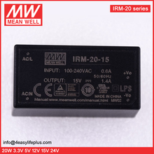 MeanWell 20W 15V Encapsulated Type Open Frame Switching Power Supply IRM-20-15