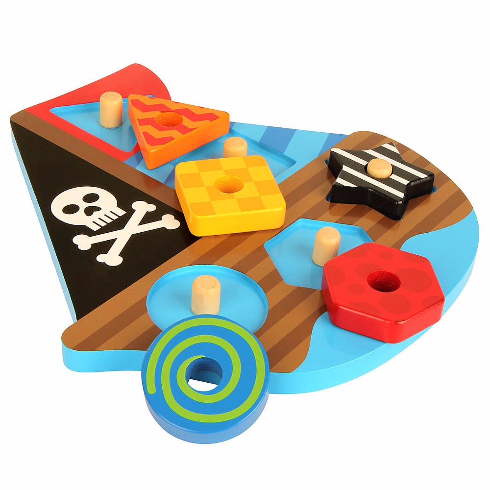 Unique Design Peg Puzzle Kids Educational Toys, Creative Toddler Learn Shapes Wooden Educational Toys