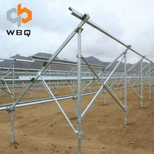 Ground Screw Pile Solar Panel Mounting System