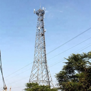 Power angle steel mobile transmission monopole lattice steel tower