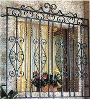 High quality decration wrought iron window grill design/steel window grill design /modern forged iron window grill design