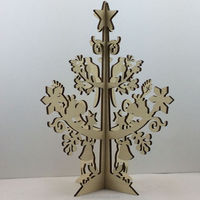 Christams tree shaped Wooden Jewelry Tree / Earring Holder /Jewelry Stand