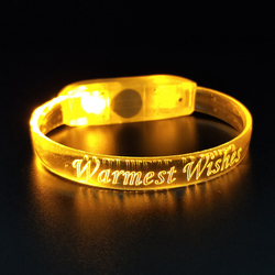 Promotional Gifts Ultra Bright Light Up LED Flashing Bracelet with 3 Modes