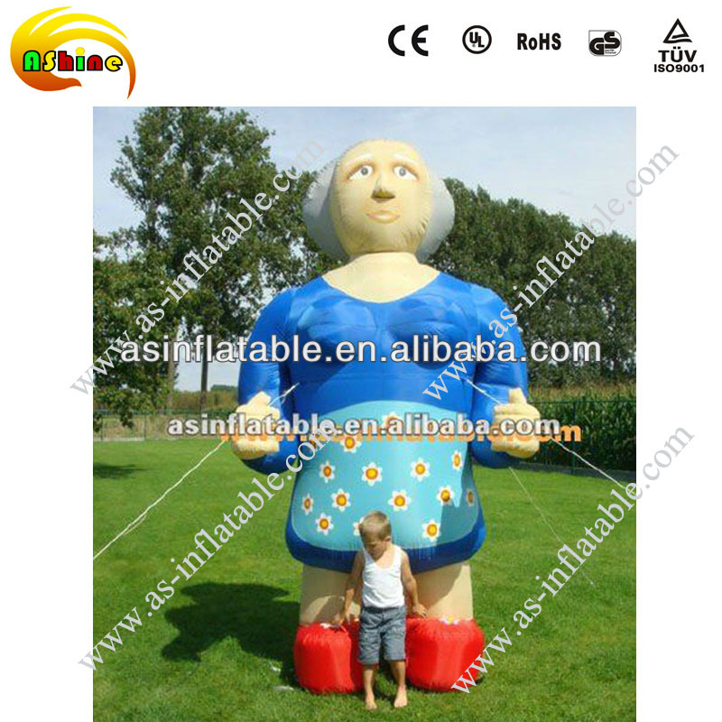 High quality large inflatable lady model with ce