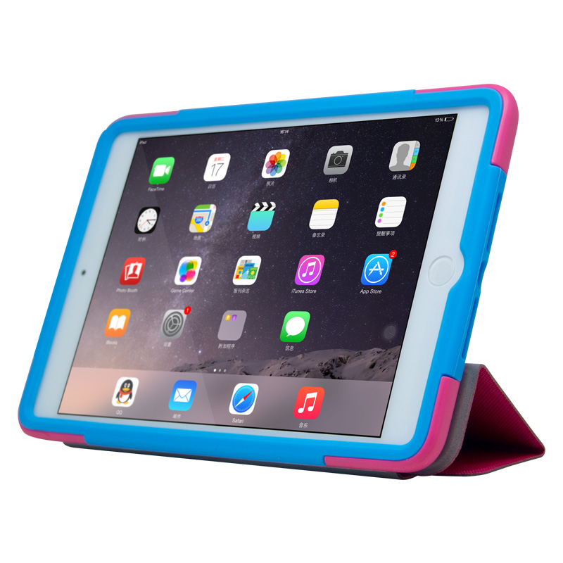 PU Leather Shock-Absorption Case for iPad Mini 2/3