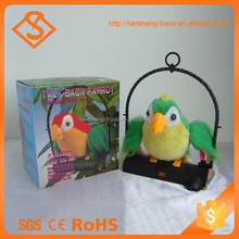 Newest gift toy recording large parrot colorful talking parrot for sale