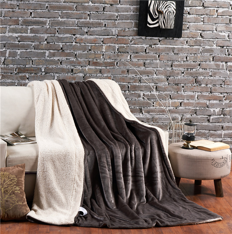 plain soft and plush bed blanket for wholesale