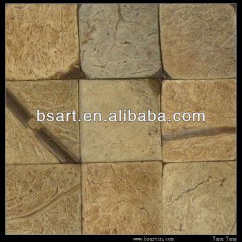 Double-sided decoration coconut shell mosaic tile