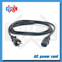 High quality 3 pin US ac power cord cable 220v