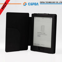 Factory Price Premium Leather Flip Cover Case for Kobo Auru HD Touch eReader / e-Reader