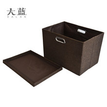 Hot selling collapsible fabric covered storage boxes with lids