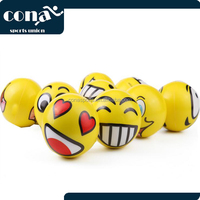 2017 Stress Relief Ball Set of 12 Assorrted Big Happy Face Fun Emoji Hand Wrist Finger Exercise Stress Relief Squeeze Ball