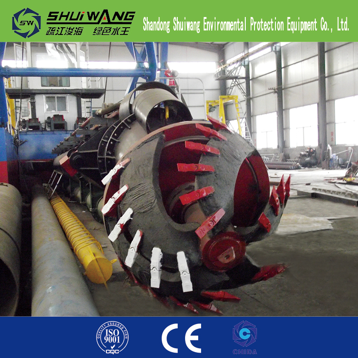 Low price of the cutter suction sand dredger for hot sale 2017