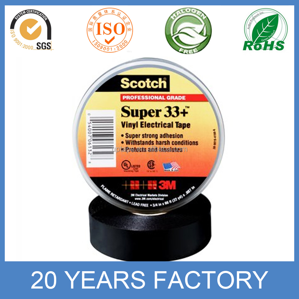 3M 33 Black Vinyl Electrical Tape 3M PVC insulation Tape
