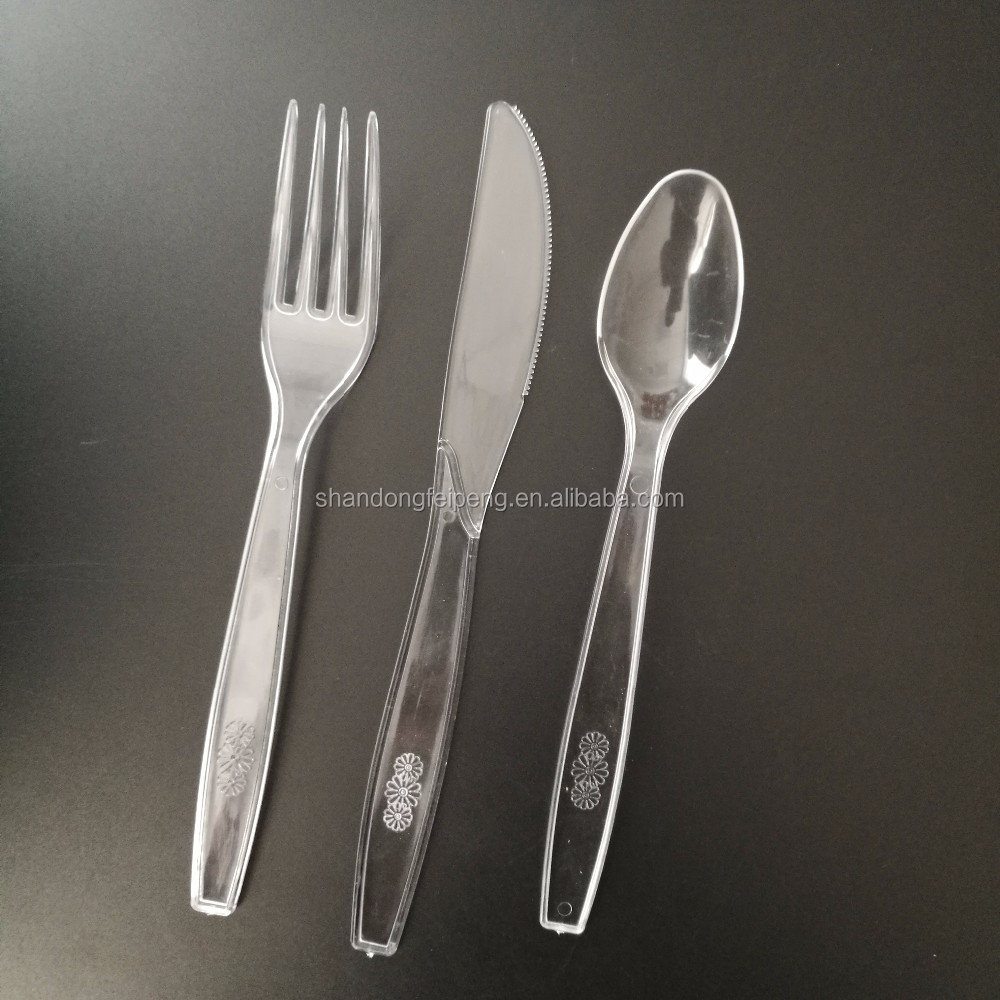 one time using plastic knife 1000 sets Plastic Cutlery Combo Knives/Forks/Spoons