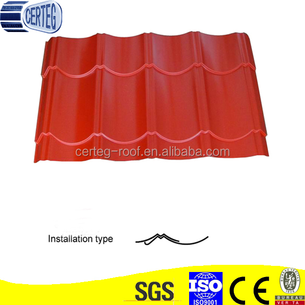 Colored Roof Tile metal roofing cost