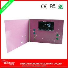 "Kinoway Customize creative 2.4"" Lcd Video Cards/Tft Screen Video Greeting card /Video Greeting Card Electronic"