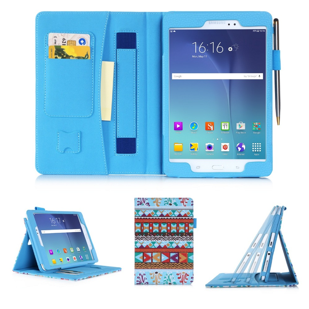 Leather Shockproof Wallet Cover Custom Flip Tablet case For Samsung Tab A