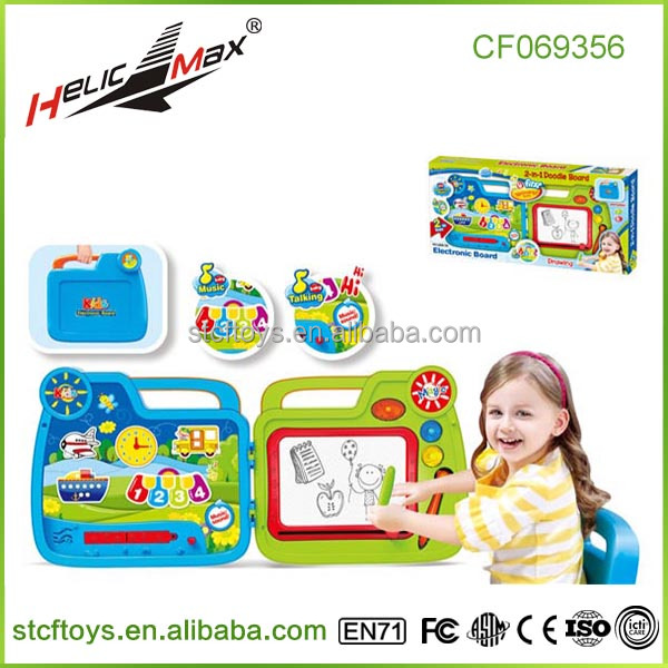 new products music box suitcase 2 in 1 kids magnetic drawing board toys shantou