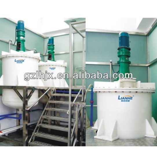 PVC mixing tank with agitator, blending vessel for hair care water , strong acid and alkaliand