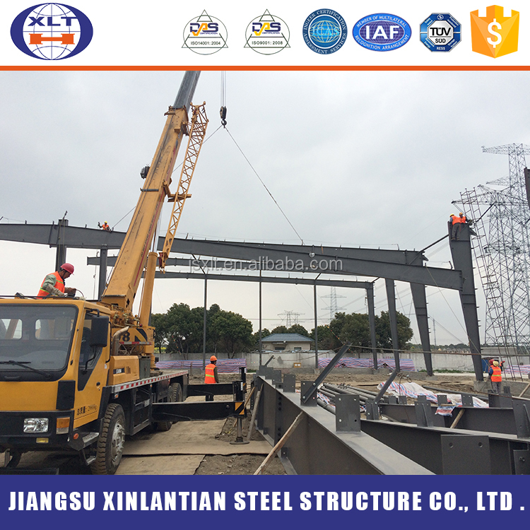 Large span steel structure building industrial hall building function hall design