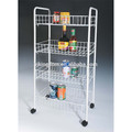 330-55 multifunction 4-tier metal kitchen trolley with wheels
