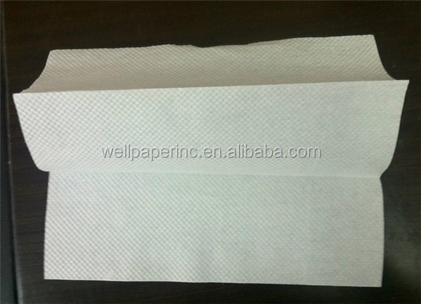 23x23cm Z fold 1 ply full embossed custom printed paper towel