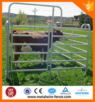 Galvanized livestock metal cattle rail fence