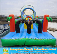 funny inflatable bouncer obstacle course
