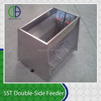 Automatic pig feeder,Stainless Steel double-side feeder/ Pig Feeder