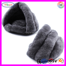 D691 Grey Furry Soft Pet Living House Stuffed Living Dog House Plush