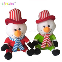 wholesale christmas toys stuffed plush santa claus and Christmas elk snowmen doll plush for Festival decoration