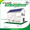 Flat roof 10kw home solar power system 110v 220v ac 10kva home solar power system